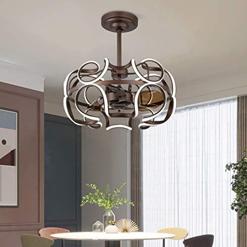 LANMOU Lámpara de Techo LED con Ventilador Moderno 85W Silencioso Ventilador Luz con Mando a Distancia Plafón,Velocidad de Viento Ajustable, Reversible Fan Lámpara para Comedor, Dormitorio, Salón,D