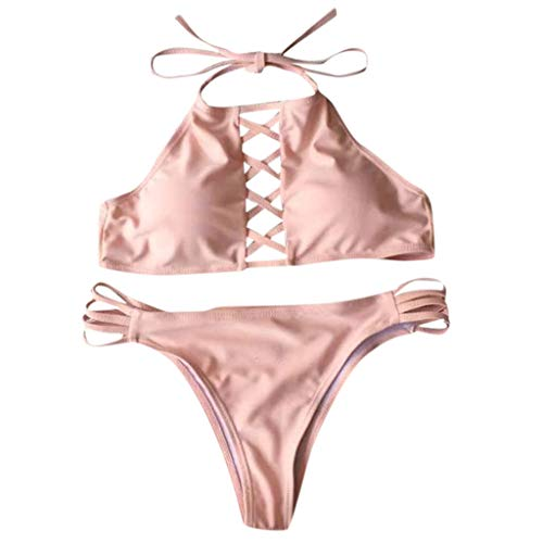 Mujer Traje de una Pieza con Relleno Bañador Push up Ropa de Baño Cintura Alta Mujer Monokini Traje de BañoTalla Grande