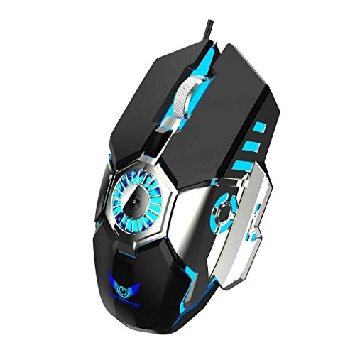 Homyl RGB Gaming Mouse Innovative Anti-Sweat Palm Cooling Gamer Mouse DPI Adjustable - Black