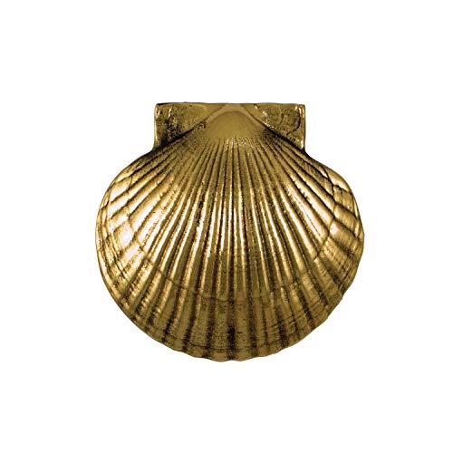Sea Scallop Door Knocker - Brass (Premium Size)