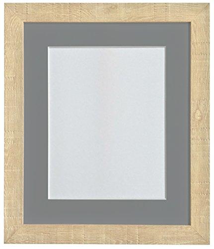 FRAMES BY POST 10 x 10 cm, korrel diepe fotolijst met houder, 20,3 x donkergrijs, afbeeldingsgrootte 20,3 cm, lichtbruin