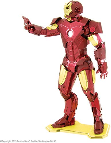 Fascinations Metal Earth MMS322 - 502642, Marvel Avenger Iron Man, Konstruktionsspielzeug, 3 Metallplatinen, ab 14 Jahren