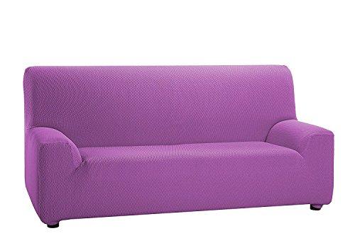 Texturas VIP- Funda de sofá Elástica Low Cost (Varios tamaños Disponibles) (1_Plaza_80_110_cms, Malva)
