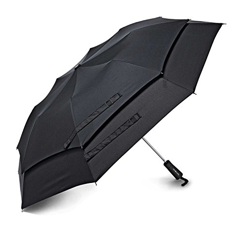 Samsonite Windguard Auto Open Umbrella, Black, One Size