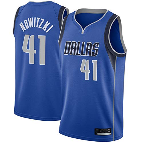 Herren Basketball Trikot NBA Dallas Mavericks 41# Nowitzki Jersey Herren Basketball Anzug