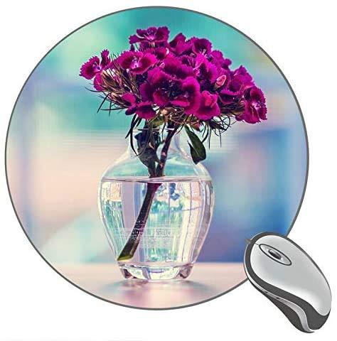 Lila Nelke in einer Vase Flower Mousepad Mat Round Mouse Pad