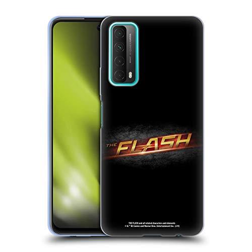 Head Case Designs Oficial The Flash TV Series Negro Logotipos Carcasa de Gel de Silicona Compatible con Huawei P Smart (2021)