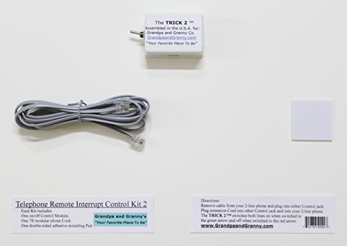 2-LINE On/Off Switch for Any Telephone Device Connected to a 2-line RJ-11 Phone Jack. The Telephone Remote Interrupt Control Kit 2. The Trick 2'!
