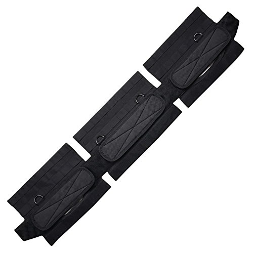 Condor Outdoor Slim Battle Belt (Black, Large)