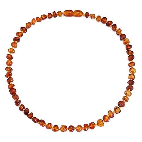 Cici's Story Collar de Ambar(Cognac) - 33cm - Collar de Ámbar Báltico Certificado Ámbar El Collar auténtico báltico
