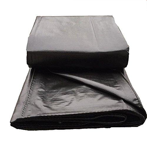 Pengbu MEIDUO Bches Bche Imperméable à l'eau de bche, Multi-Usage Résistant, Noir extérieur 200g/m² -Thickness: 0.4mm pour l'extérieur (Couleur : Black, Taille : 8*10m)