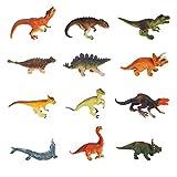 Yideng 12 Juguetes de Dinosaurios,Mini Juego de Historia de Juguete de Dinosaurio Realista, Juguetes educativos de Dinosaurios prehistóricos, Figuras de Criaturas para niños y niñas de 4 años o más