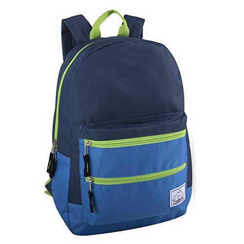 Multi-Color Back Pack with Adjustable Padded Shoulder (Navy)