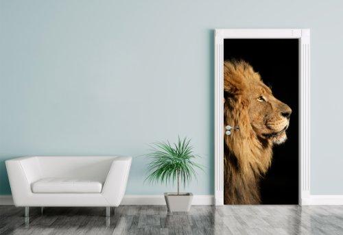 Bilderdepot24. t24. de 1146322Anta Adesivo Grande Leone Africano, 90x 200cm, Autoadesivo