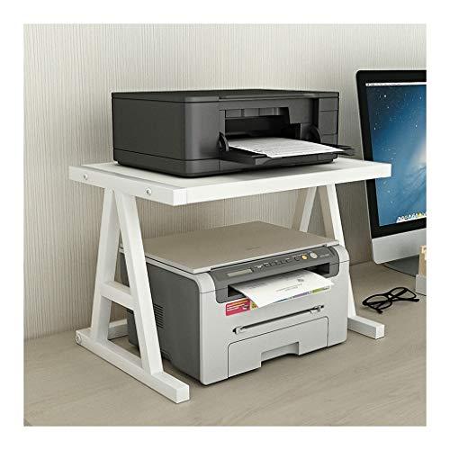 Mobile Printer Cart Desktop Stand for Printer Desktop Shelf for Space Organizer(Hardware and Steel)Storage Shelf, Book Shelf, Double Tier Tray for Mini 3D Printer Desk Side Printer Shelf