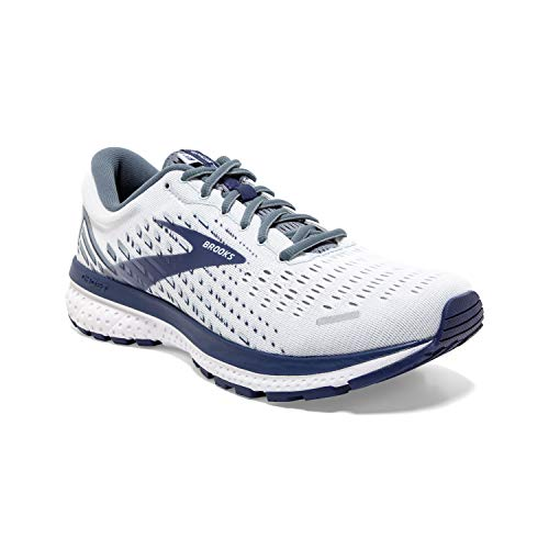 Brooks Ghost 13 White/Grey/Deep Cobalt 7 D (M)