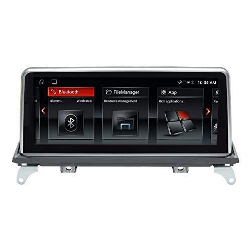 Navegador GPS Navegador GPS para automóvil Android 10 Estéreo automático para BMW X5 X6 E70 E71 Sistema CIC Quad Core 2GB RAM 32GB ROM con sistema iDrive Retenido Pantalla táctil de 10.25 pulgadas co