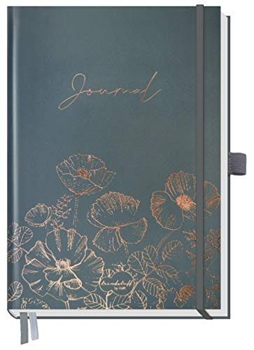 Trendstuff Premium Bullet Journal dotted [Poppy] Notizbuch A5 gepunktet | 188 Seiten dickes Papier | Tagebuch mit Punkteraster, Gummiband, Stifthalter | nachhaltig & klimaneutral