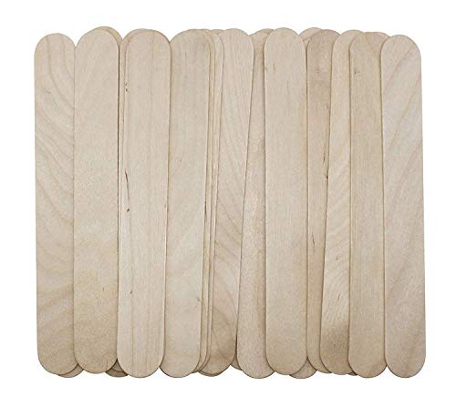 100 Large Wax Waxing Wood Body Hair Removal Craft Sticks Applicator Spatula