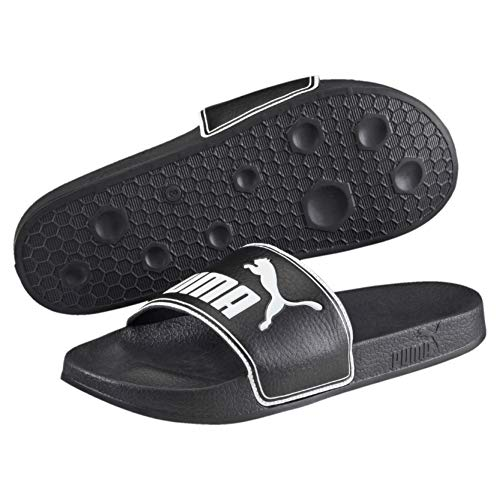 Puma Leadcat, Unisex adulto Chanclas, black-white, 43 EU