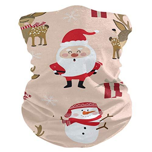 Stoff-Gesichtsmaske für Damen, multifunktional, Bandanas, Schnittmuster, unisex, Elch, Weihnachten, Schneemann, Stoffmaske, Muster, bedruckbar, für Herren und Damen, Kopfbedeckung, Kopftuch, waschbar