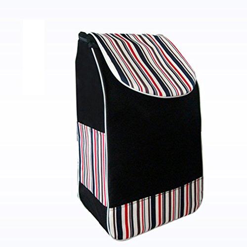 Oxford Bag Double Layer Carrello comprare un sacchetto di verdure impermeabile ispessimento Trolley Piccolo Tirare carrello Trolley Cars Bag ( Colore : D )