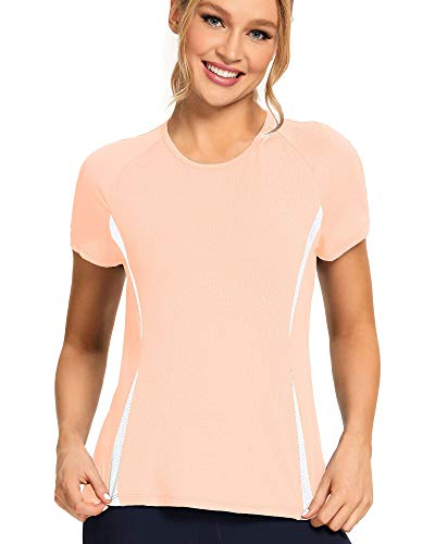 Workout Shirts for Women - Womens T Shirts - Womens Athletic Tops Peach Melba