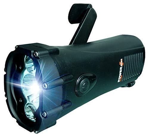 POWERplus Shark Wasserdichtes Dynamo Kurbel / USB aufladbares LED-Taschenlampe / Not Ladegerät Schwarz