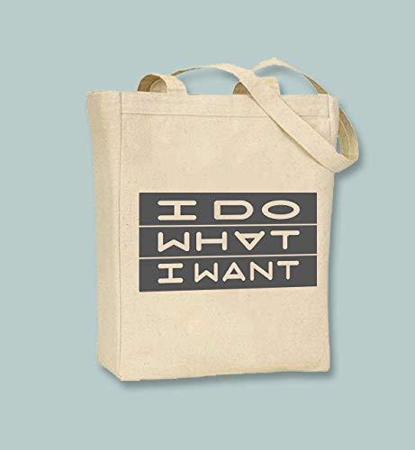 I Do What I Want, tipografía ilustración de lienzo natural o negro e imagen colores disponibles