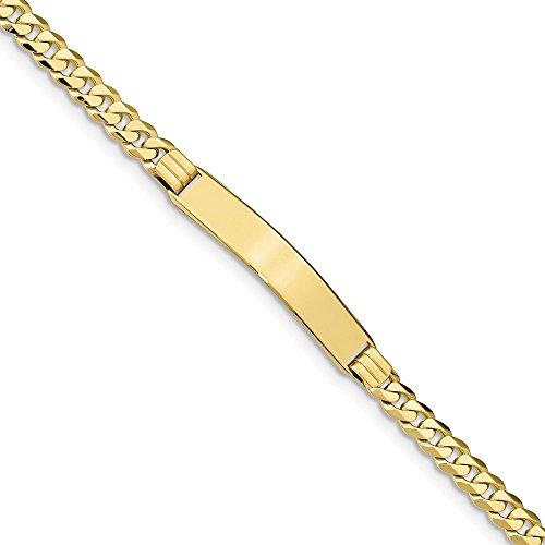 Diamond2Deal - Pulsera de eslabones para hombre de oro amarillo de 10 quilates de 18 cm