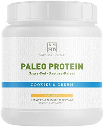 Pure Paleo Protein Powder by Dr Amy Myers Cookies and Cream Clean Grass Fed Pasture Raised Hormone product image