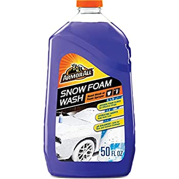 Armor All Car Wash Snow Foam Formula Cleaning Concentrate for Cars Truck Motorcycle Bottles 50 Fl Oz 19141