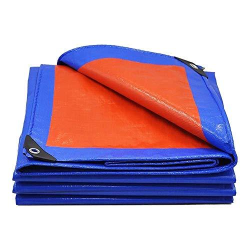 WTT campingzeil, rood/blauw zeil, waterdichte high-performance vissen, buitenshuis, camping-vloerbedekking, afmetingen: 2,8 x 3,8 m