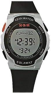 AL Harameen Muslim Azan Watch Prayer Wriste Watch 6509 Black Waterproof Best Muslim Products