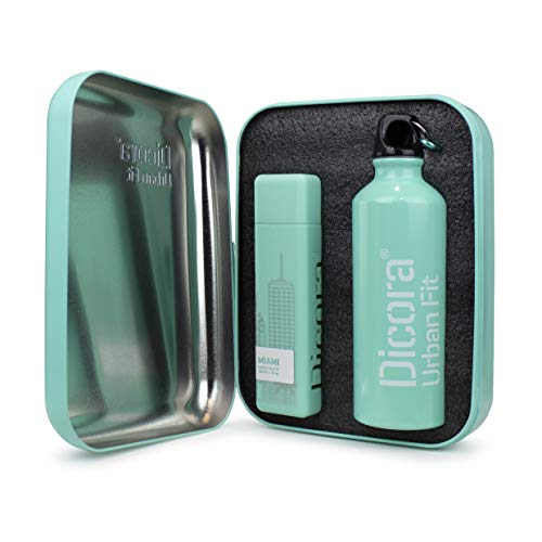 Dicora Urban Fit Set Eau de Toilette MIAMI - 100 ml y botella deportiva de 500 ml. Agua de colonia para hombre