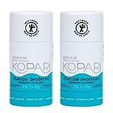 Kopari Aluminum Free Mens Charcoal Coconut Deodorant Stick | Made with Organic Coconut Oil | Non Toxic, Paraben Free, Plant Based, Gluten Free & Cruelty Free Long Lasting Natural Deodorant | 2 Pack, 2.0 oz