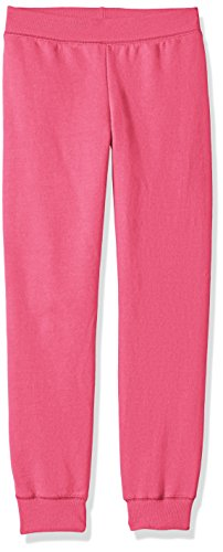 Hanes Big Girls' Comfortsoft Ecosmart Fleece Jogger Pants, Amaranth, M