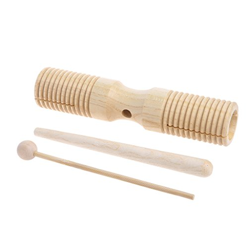 Jesse Wooden 2 Tone Block Percussion, Party Favor Instrument Musical Educational Toy for Kids Children Toddlers