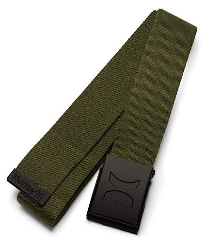 Hurley M Web Belt Cinturones, Hombre, Legion Green, 1SIZE