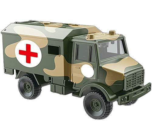 Foanerwi Kinder Simulieren Army Educational Toy Medical Vehicle Spielset, Geben Vor, Kinder Krieg Und Action Toys Militäranzug Modell Dekoration, Geeignet Für Jungen Und Mädchen, 1:52