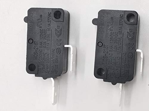 2 interruptores de horno de microondas SZM-V16-FA-63 compatibles con LG GE interruptor de puerta de horno Starion B24X829 3B73362F PS3522738 SZM-V16-FD-63 AP2024337