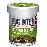 Fluval Bug Bites Bottom Feeder Fish Food, Granules for Small to Medium Sized Fish, 1.59 oz., A6586