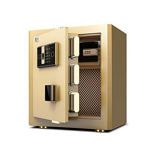 GSC-office Caja Fuerte Caja Fuerte 45cm Contraseña Huella Digital Oficina en el hogar Todo Acero Caja Fuerte de Seguridad antirrobo Puede ingresar a la Pared (Color : Oro, tamaño : 39x32x45cm)