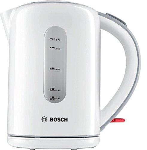 Bosch TWK7601GB Village Collection Kettle, 1.7 L-White by, 3000 W, 1.7 liters, Blanc