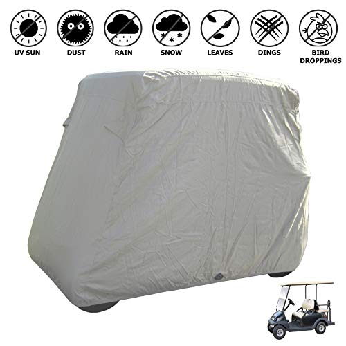 Deluxe 4 Passenger Golf Cart Cover roof 80' L Taupe, fits E Z GO, Club Car, GEM e2 and Yamaha G Model