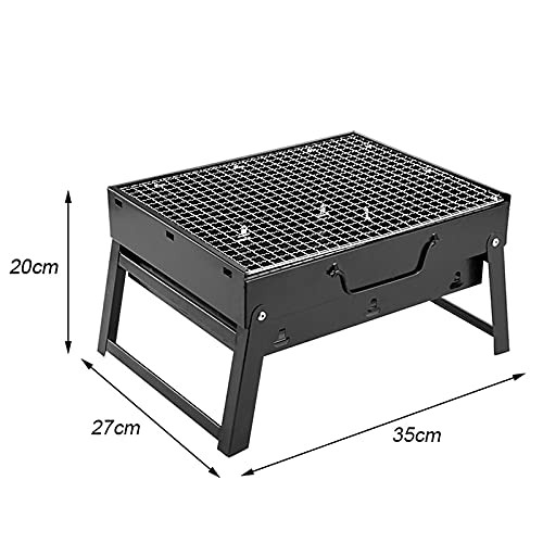 41VNqulj5vS. SL500  - Jiaojie Holzkohlegrill für den Haushalt, zusammenklappbar, tragbar, Einweggrill, für den Außenbereich, schwarzer Stahlofen