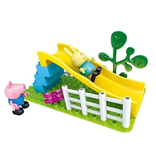 N-B Peppa George Pig Bloques de construcción de Ladrillos de Juguete Peppa Familia Amigos Escena de Juegos para niños Juguetes educativos