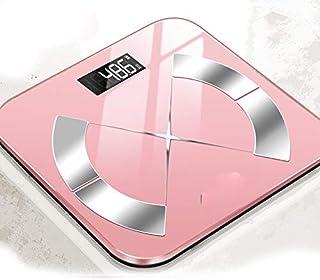 Yuen Báscula electrónica/Báscula de Peso/Precisión casera/Inteligente Duradera/Báscula de Grasa y Grasa Corporal/Báscula de pesaje Corporal de Alta precisión(Pink)