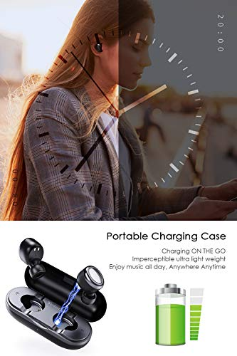 Bluetooth Wireless Earbuds Upgraded Bluetooth 5.0 Earbuds Yoleo Ultra Light Weight Earbuds w// Stable Connection Auto Paring Technology/HD Sound Wireless Headphones with Built-in Mic