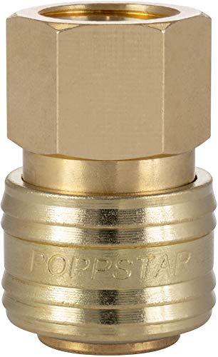 Poppstar Conectores rapidos aire comprimido, diámetro nominal 7,2 mm con rosca interior (hembra) de 3/8 pulgada para conexión de aire comprimido